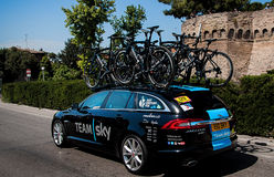 98 rd Giro d Italia (Tour of Italy) -  Cycling team sky Royalty Free Stock Photos