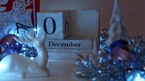 3rd Grudnia data Blokuje adwentu kalendarz zbiory