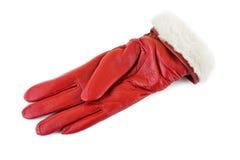 Röd handske Arkivfoto
