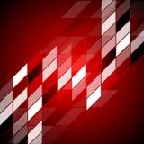 Röd high techabstrakt begreppdesign Royaltyfri Bild