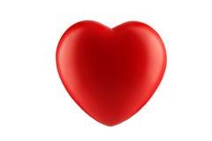 Röd hjärta som isoleras på vit Arkivbilder