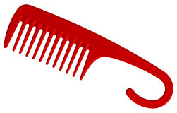 Röd hårkam Royaltyfri Bild