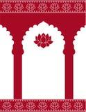 Röd indisk portbakgrund Arkivbilder