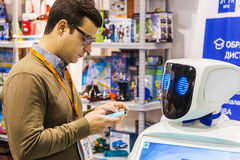 3rd International Exhibition of Robotics and advanced technolog. Moscow, Russia, November 20, 2015: The 3rd International Exhibition of Robotics and advanced stock photos