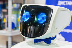 3rd International Exhibition of Robotics and advanced technolog. Moscow, Russia, November 20, 2015: The 3rd International Exhibition of Robotics and advanced stock photo