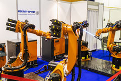 3rd International Exhibition of Robotics and advanced technologies 'Robotics Expo'. Moscow, Russia, 20 November 2015: The 3rd International Exhibition of royalty free stock image