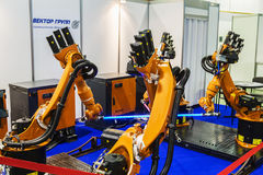 3rd International Exhibition of Robotics and advanced technologies Stock Image
