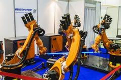 3rd International Exhibition of Robotics and advanced technologies stock image