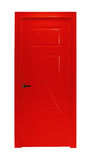 Röd isolerad rumdörr Royaltyfri Bild