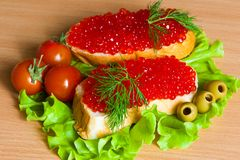 Röd kaviar Royaltyfri Foto