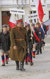 3rd Kielce Memory March at celebration 76th anniversary of Katyn Royalty Free Stock Photography