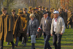 3rd Kielce Memory March at celebration 76th anniversary of Katyn Royalty Free Stock Photo
