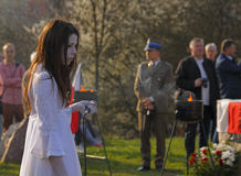 3rd Kielce Memory March at celebration 76th anniversary of Katyn Stock Images