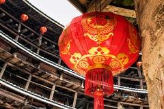 Röd kinesisk lykta Royaltyfri Fotografi