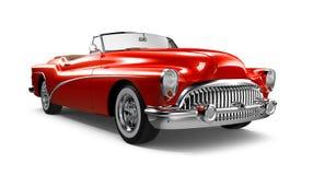 Röd klassisk kupébil Arkivbild