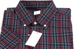 Röd kontrollerad modellskjorta Royaltyfri Bild