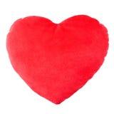 Röd kudde för hjärta, kudde Royaltyfri Foto
