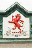 Röd lejonvapensköld Royaltyfria Foton