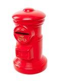 Röd leksakstolpeask Royaltyfri Foto