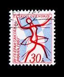 3rd medborgare Spartakiad, serie, circa 1965 Royaltyfria Bilder