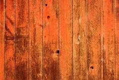 Röd målad wood bakgrund Fotografering för Bildbyråer