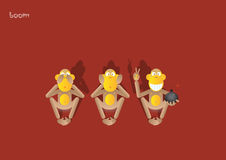 40-the 3rd monkey Royalty Free Stock Photography