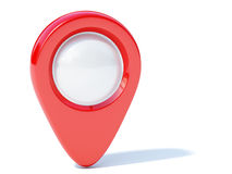 Röd navigeringmarkör Arkivbilder