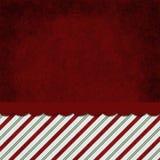 Röd och för vit randig godis Cane Striped Grunge Backgroun för gräsplan, Royaltyfri Foto