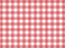 Röd och vit borddukmodell Royaltyfria Bilder