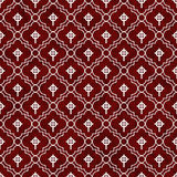 Röd och vit för symboltegelplatta för keltiskt kors bakgrund för repetition för modell Royaltyfri Bild
