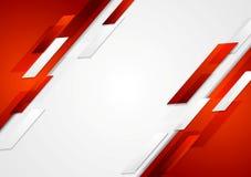 Röd och vit skinande högteknologisk rörelsebakgrund Arkivfoto