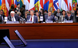 23rd OSCE Ministerial Council in Hamburg Stock Photography