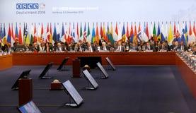 23rd OSCE Ministerialna rada w Hamburg Fotografia Royalty Free