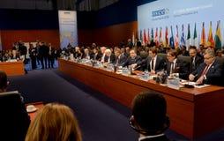23rd OSCE Ministerialna rada w Hamburg Zdjęcie Stock