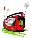 Röd radio. Royaltyfria Foton