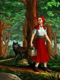 röd ridning för huv Royaltyfri Foto
