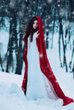 röd ridning för huv Royaltyfri Fotografi