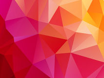 Röd rosa orange triangulär bakgrund Arkivbild