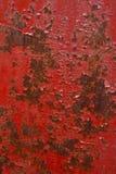 röd rostig vägg för bakgrund Arkivfoto