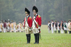 The 23rd Royal Welch Fusiliers at the 225th Anniversary of the Victory at Yorktown, a reenactment of the siege of Yorktown, where  Royalty Free Stock Photography