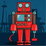 Röd rysk robot Royaltyfri Foto