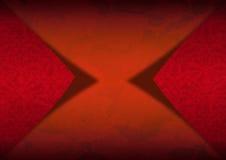 Röd sammetbakgrund med den klassiska prydnaden Royaltyfria Foton