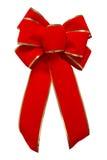 Röd sammetbow Fotografering för Bildbyråer