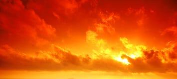 röd sky Royaltyfria Bilder