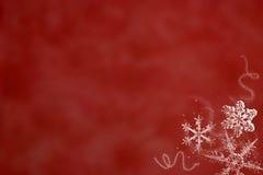 röd snow Royaltyfria Bilder