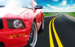 Röd sportbil Royaltyfri Foto