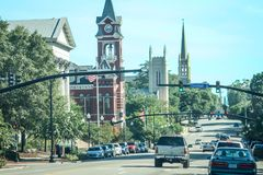 3rd St, i Wilmington, NC Royaltyfri Bild