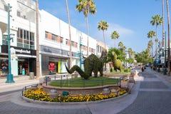 3rd St-promenad i Santa Monica Arkivbild