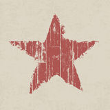 Röd stjärna för Grunge. Arkivbild