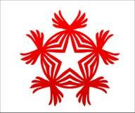 Röd stjärna för mästare med vingsegerlogo Arkivbilder